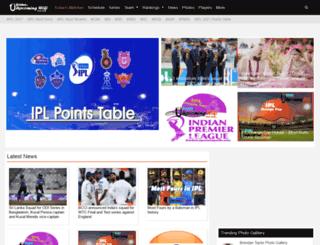 cricket.upcomingwiki.com screenshot