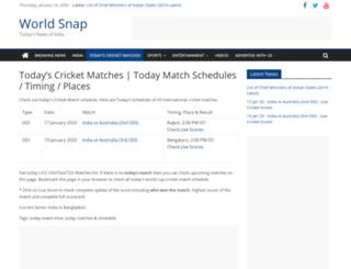 cricket.worldsnap.com screenshot