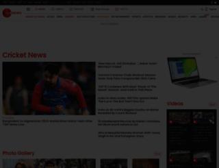cricket.zeenews.com screenshot