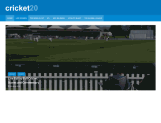 cricket20.com screenshot