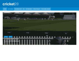 cricket20.com screenshot