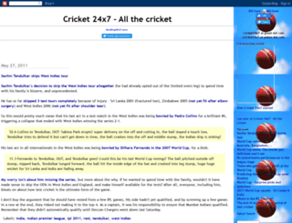 cricket24x7.blogspot.com screenshot