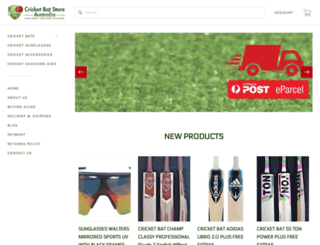 cricketbatstore.com.au screenshot