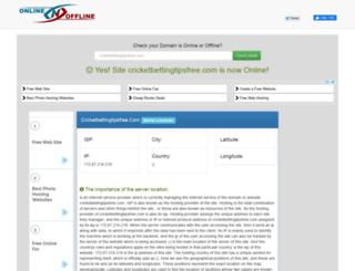 cricketbettingtipsfree.com.onlinenoffline.com screenshot