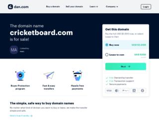 cricketboard.com screenshot