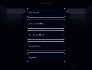 cricketcastle.org screenshot