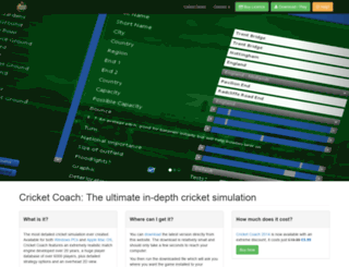 cricketcoachgame.com screenshot