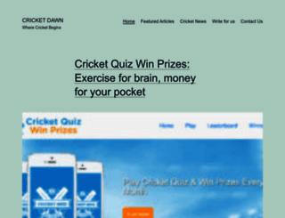 cricketdawn.com screenshot