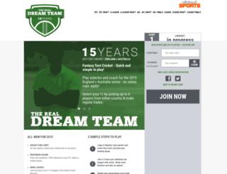 cricketdreamteam.virtualsports.com.au screenshot