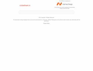 cricketfresh.in screenshot