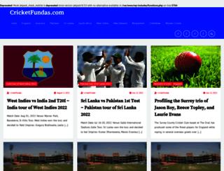 cricketfundas.com screenshot