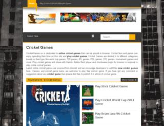 cricketgames.us screenshot