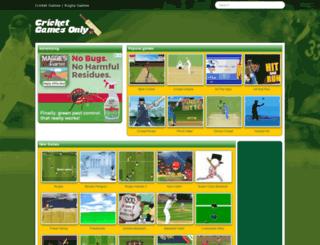 cricketgamesonly.com screenshot