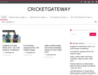 cricketgateway.info screenshot