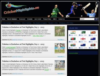 crickethighlights.co screenshot