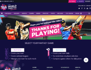 cricketicc.fantasyleague.com screenshot