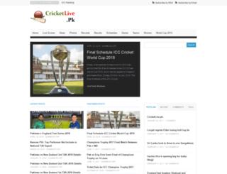 cricketlive.pk screenshot