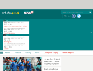 cricketnext.com screenshot