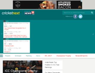 cricketnext.in.com screenshot