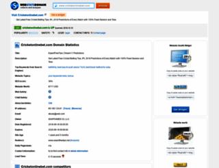 cricketonlinebet.com.webstatsdomain.org screenshot