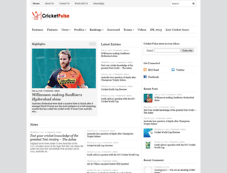 cricketpulse.com screenshot