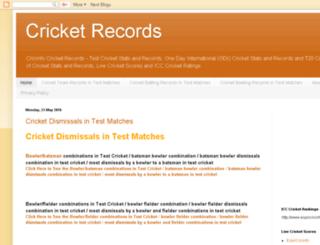 cricketrecordscricinfo.blogspot.in screenshot