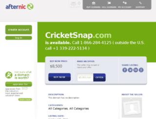 cricketsnap.com screenshot
