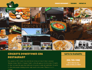 cricketsoysterbar.com screenshot