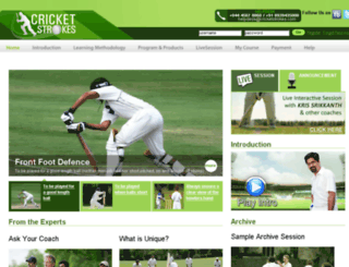 cricketstrokes.com screenshot