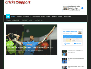 cricketsupport.com screenshot