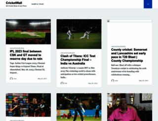 cricketwall.com screenshot