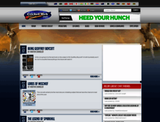cricketweb.net screenshot
