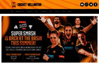cricketwellington.co.nz screenshot