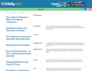 crickety.com screenshot
