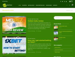 cricketzone.in screenshot