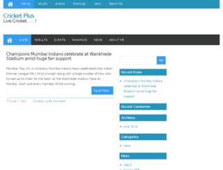 crickplus.com screenshot