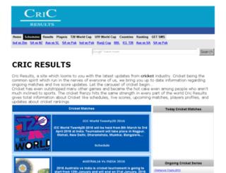 cricresults.com screenshot