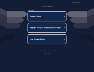 crictime.site screenshot