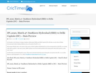 crictimes.info screenshot