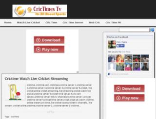 crictimestv.blogspot.fr screenshot