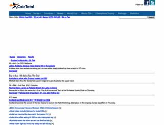 crictotal.com screenshot