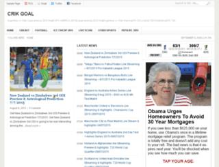 crikgoal.com screenshot