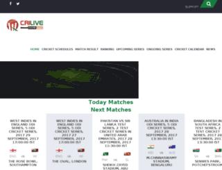 crilivescore.com screenshot