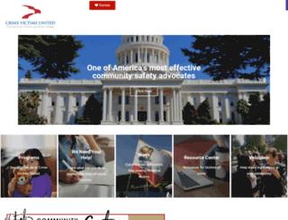 crimevictimsunited.com screenshot
