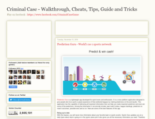 criminal-case-cheats.blogspot.in screenshot