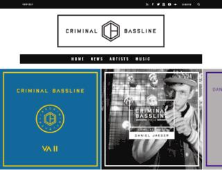criminalbassline.com screenshot