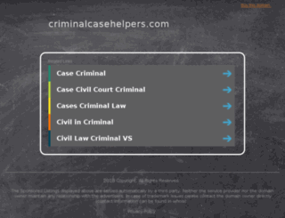 criminalcasehelpers.com screenshot