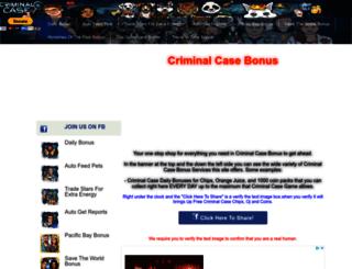 criminalcasetools.com screenshot