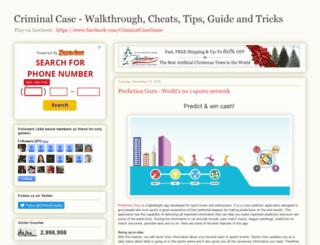 criminalcasetricks.com screenshot