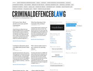 criminaldefenceblawg.com screenshot